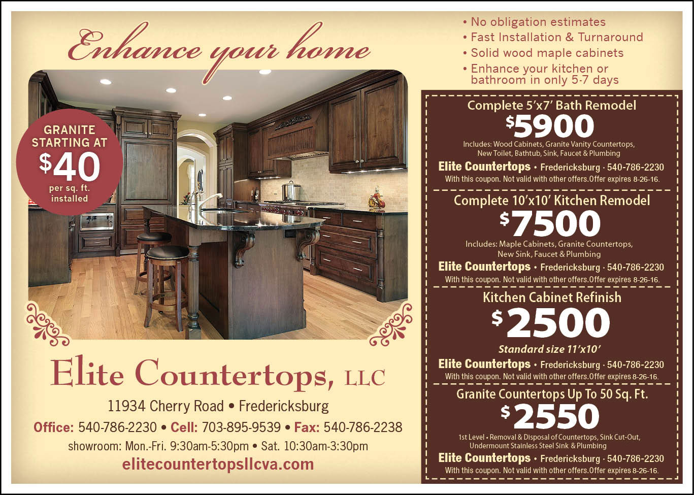 Elite Countertops Valuable Coupon