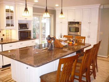 kitchen island cabinets countertops